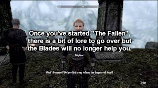 Skyrim Blades - Avoid Killing Paarthurnax