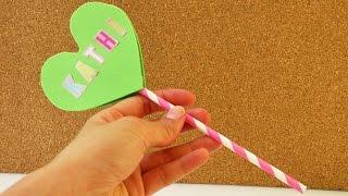 Herzchen Lolli als Einladung zum Kindergeburtstag, als Deko oder Geschenk - Herz