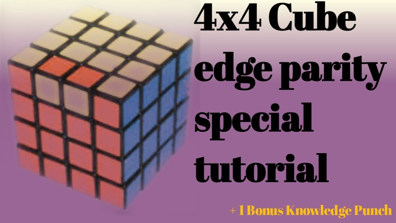 How to solve 4x4 edge parity in hindi tutorial, edge parity special  tutorial, The Knowledge Maestro