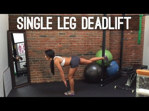 Best Move for Booty: Single Leg Deadlifts