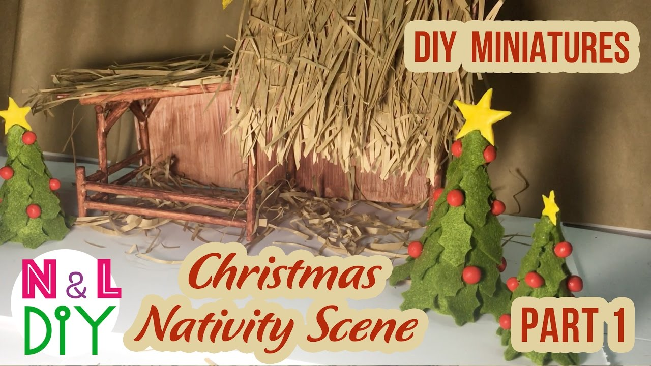 Diy Miniature Christmas Nativity Scene How To Make A