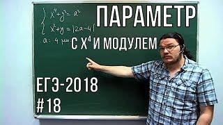 Параметр с четвертой степенью и модулем | ЕГЭ-2018. Задание 18. Математика | Борис Трушин