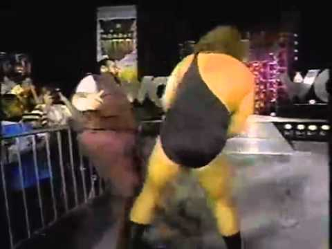 The Giant Big Show Beats Up Loch Ness Giant Haystacks
