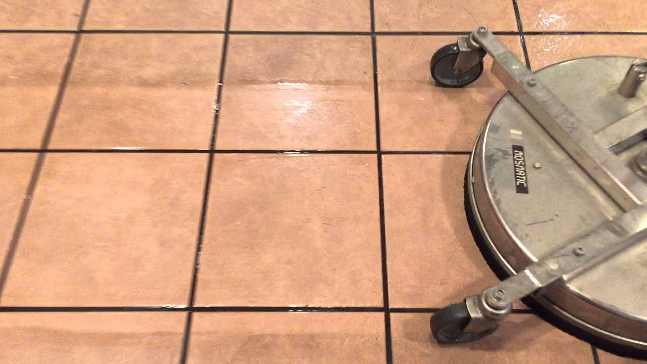 Interior Power Washing Tile Grout Cleaning Floor Sanitizing - Best method to clean tile grout