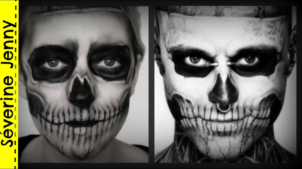 Maquillage Halloween Squelette Zombie Boy / Skeleton Lady Gaga ...