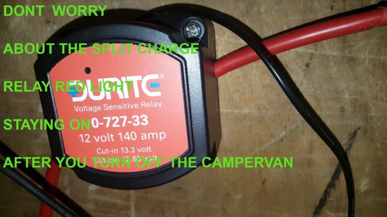 Durite Split Charge Relay Wiring Diagram Not Lossing 5 Pin 12 Volt Pole Installed In My Campervan Conversion Youtube Rh Com 4 Fan