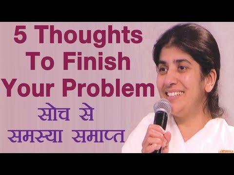 5 Thoughts To Finish Your Problem: Subtitles English: BK Shivani