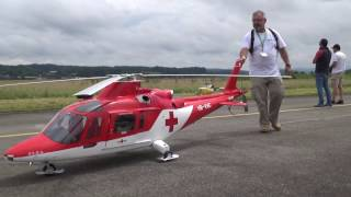 Biggest R/C Agusta-109K2 turbine Model Helicopter REGA Swiss Heli Challenge 2016