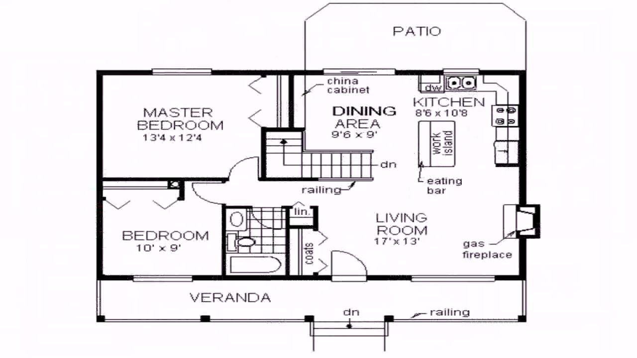 3 Bedroom Bungalow Floor Plans No Garage Youtube