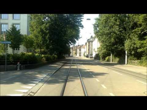 VBZ ZÜRICH TRAM - Linie 7: Bahnhof Stettbach - Wollishofen