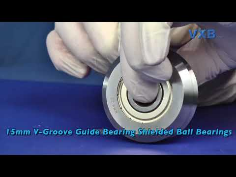RM4ZZ 15mm V-Groove Guide Bearing Shielded Ball Bearings by VXB Ball Bearings