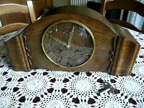 Orologio da tavolo a pendolo piuma di noce youtube - Orologio a pendolo da tavolo ...