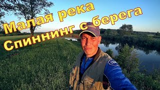 Рыбалка на малой реке Спиннинг с берега Рыба козёл