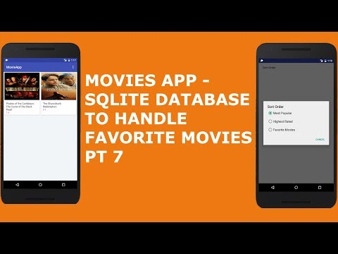 MOVIES APP -  SQLite DATABASE TO HANDLE FAVORITE MOVIE PT 7