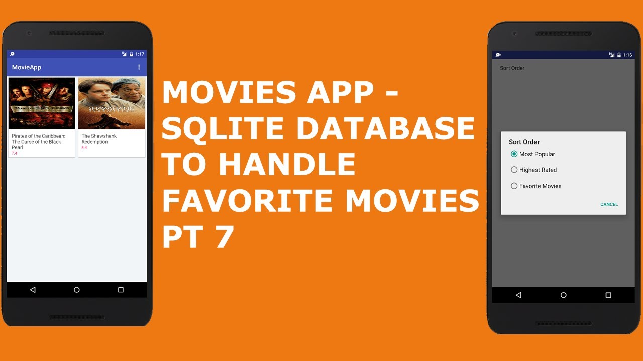 MOVIES APP - SQLite DATABASE TO HANDLE FAVORITE MOVIE PT 7