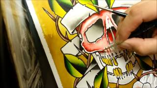 tattoo flash speed painting by carlo skepsis full hd