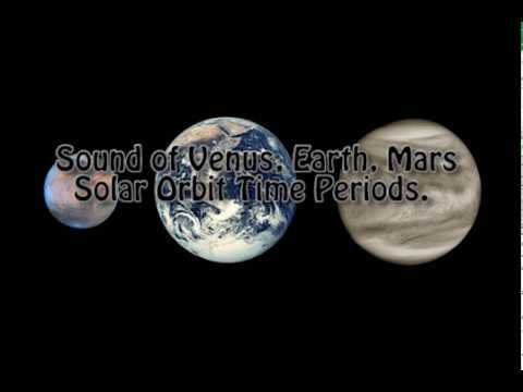 Sound of Venus Earth Mars Solar Orbit Time Periods ( Binaural Beats Meditation )