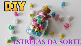 ★ DIY: Como Fazer Estrelas da Sorte (Lucky Stars Origami) ★ | Ideias Personalizadas - DIY