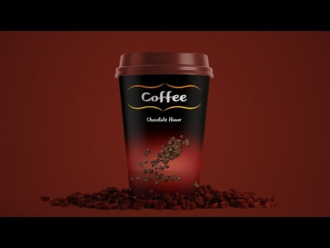 How to Design Coffee Cup Packaging | Photoshop Tutorial