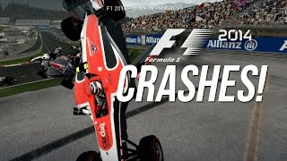 30 Amazing Crashes in F1 2014 (Xbox 360 Version, WIP)