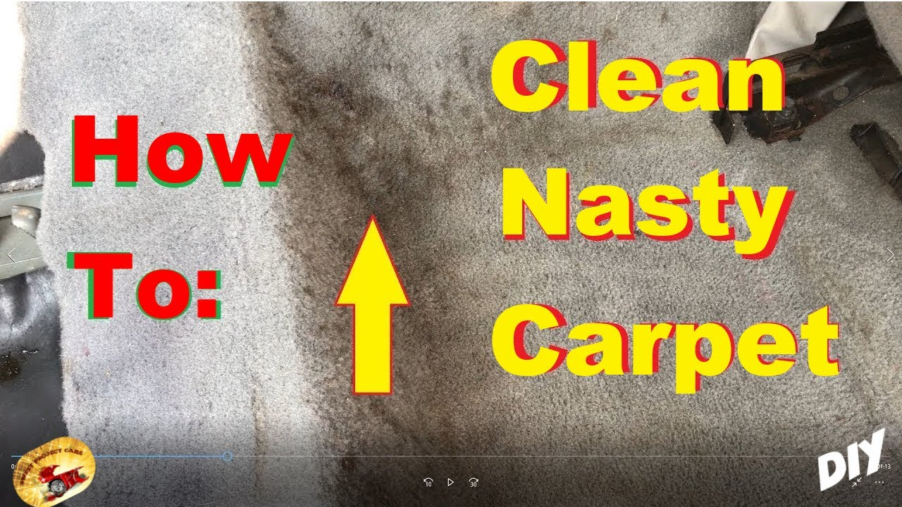Amazing Way To Super Clean The Nastiest Carpet