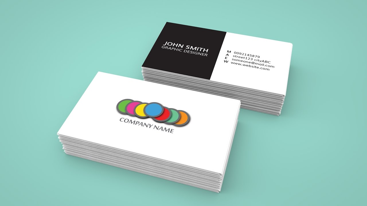 How to create a business card in adobe indesign and 3d mockup in how to create a business card in adobe indesign and 3d mockup in photoshop reheart Gallery