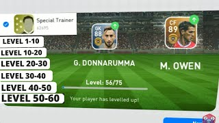 Training Players Of Different Levels With 5* Trainer | PES 2019 Mobile