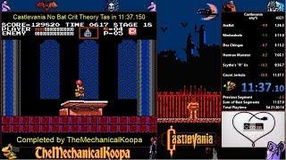 Castlevania No Bat Crit Theory TAS in 11:37.150