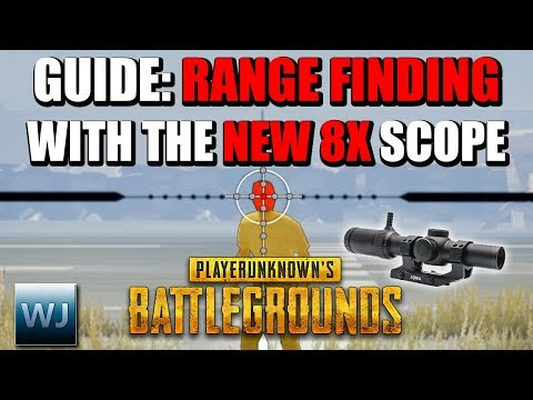 GUIDE: How to RANGE FIND with the NEW 8X SCOPE (Measure distance to players) - PUBG