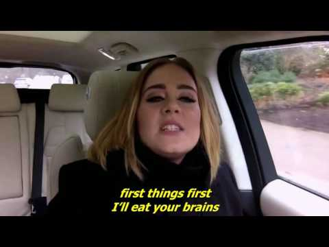 Adele raps Nicki Minaj's Monster - with lyrics