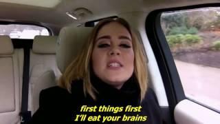 Adele raps Nicki Minaj's Monster - with lyrics