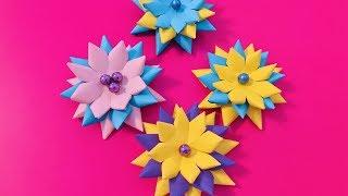 Красивые объёмные цветы из бумаги своими руками. ОРИГАМИ ЦВЕТОК. Идеи для декора дома (Эмииля)
