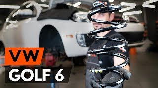 Wie VW GOLF 6 (5K1) Federn vorne wechseln [TUTORIAL AUTODOC]