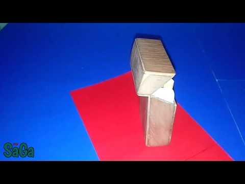 how to make cigarette box // cara membut bungkus rokok dari kayu/triplek/plywood