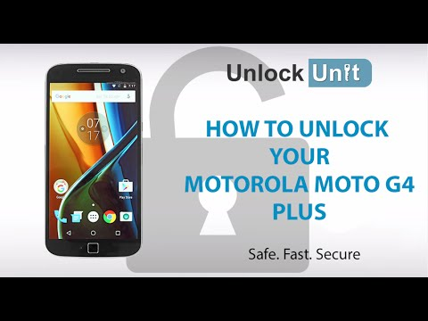 HOW TO UNLOCK Motorola Moto G4 Plus - YouTube