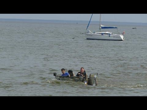 Соревнование в МОРЕ Титаник off road 4 4
