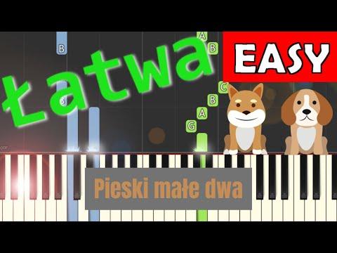 Pieski małe dwa - Piano Tutorial (łatwa wersja)