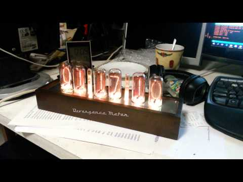 GRA & AFCH nixie clock divergence meter music