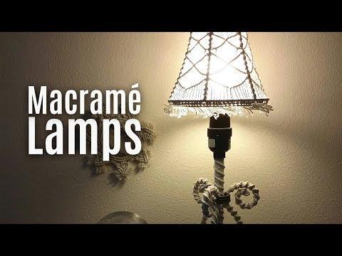 Macramé Lamp Shades, Chandeliers, Lanterns, Craft ideas
