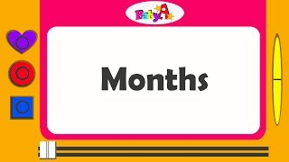 Months | Spelling of months | Nursery learning of months by BabyA Nursery channel