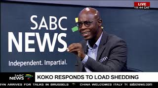 Matshela Koko responds to loadshedding crisis