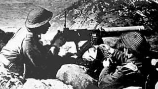 Battlefield whit Polish Soldiers during World War 2