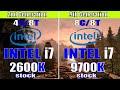 INTEL i7 2600K vs INTEL i7 9700K   RTX  2070 SUPER  @ 8GB  GAMING BENCHMARK   1080P   1440P  