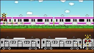 電車 踏切 地下鉄 Railroad crossing subway 子供向けアニメ  animation thumbnail