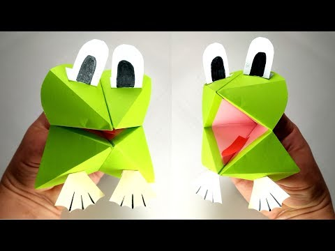 Funny Paper Frog Hand Puppet – Easy Tutorial