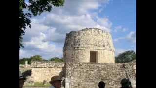 メキシコ遺跡の中では小規模な部類です。