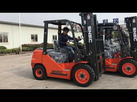SNSC 5units 3 ton diesel forklifts exported to Egypt from sheri