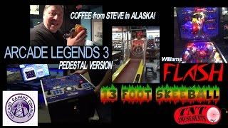 #996 ARCADE LEGENDS 3 Rare Pedestal Arcade Video Game & 13 FOOT SKEEBALL _ TNT Amusements