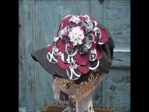 A&M Aggie Frayed Flower |Black Vintage Distressed Cadet Hat