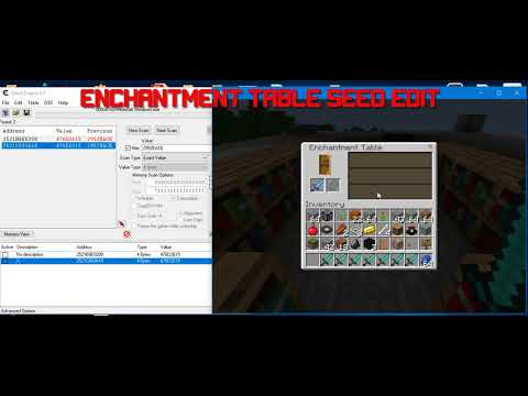 Minecraft Windows 10 Edition Enchantment Seed Editing with Cheat Engine